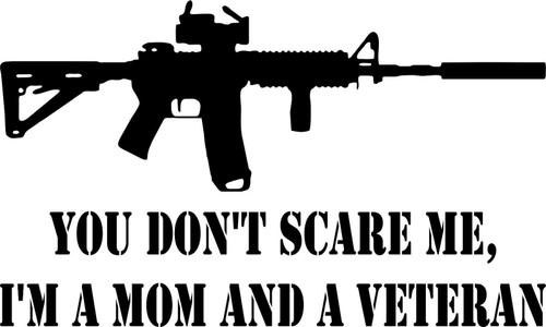 Machine Gun AR15 M16 MOM Veteran Military Truck Car Window Vinyl Decal Sticker Black