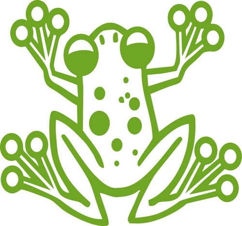 Cartoon Tree Frog Animal Pet Car Truck Window Vinyl Decal Sticker Green