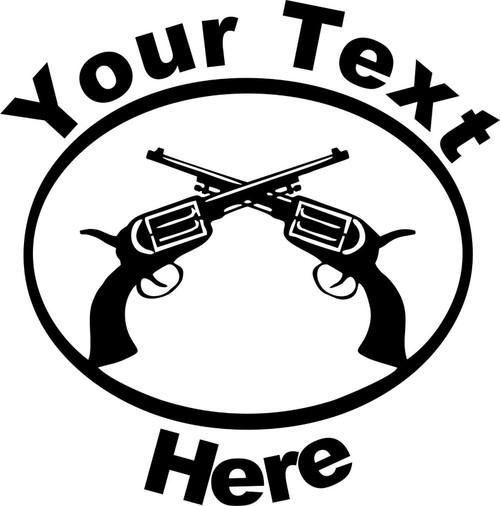 Custom Text Gun Name Rodeo Western Car Truck Window Laptop Vinyl Decal Sticker Black
