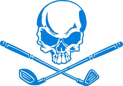 Skull Golf Clubs Crossbones Sports Golfer Car Window Laptop Vinyl Decal Sticker