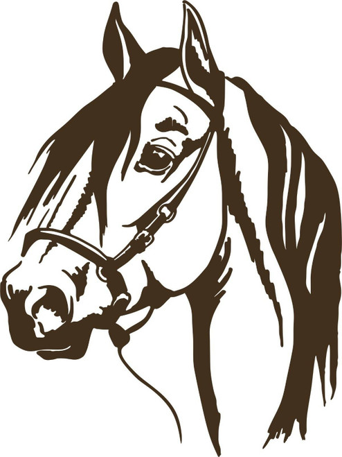 Horse Head Cowboy Rodeo Western Car Truck Trailer Window Vinyl Decal Sticker Gray