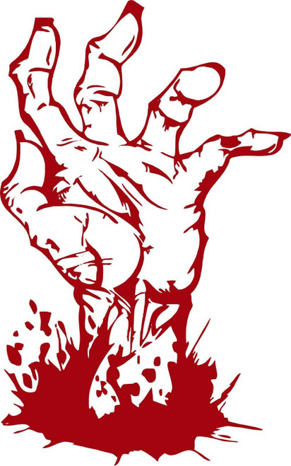 Zombie Hand Fingers Monster CarTruck Laptop Window Vinyl Decal Sticker Red