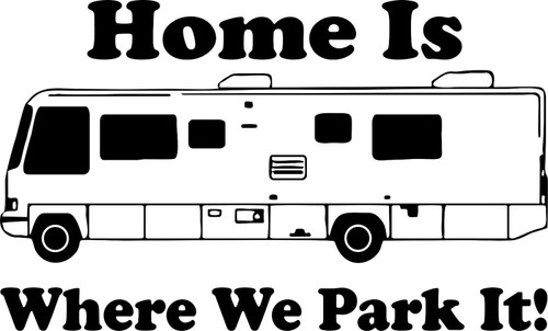 Camping RV Camper Home Park Car Truck Window Wall Laptop Vinyl Decal Sticker Black