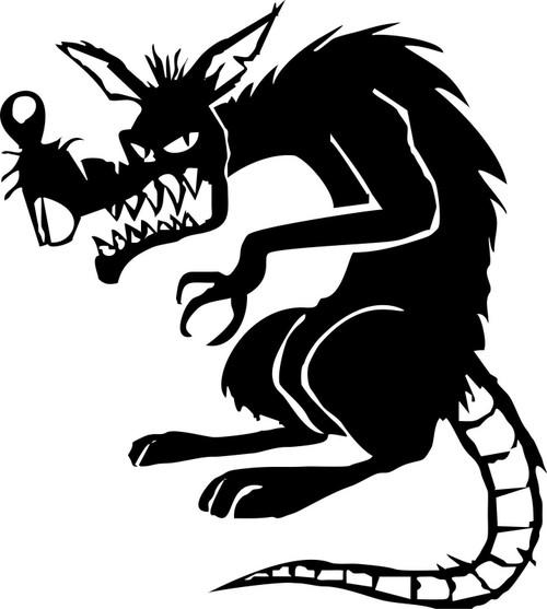 Evil Rat Mouse Animal Car Truck Window Laptop Vinyl Decal Sticker Black