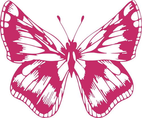 Butterfly Bug Insect Animal Car Truck Window Vinyl Decal Sticker Red