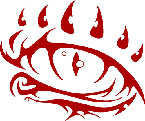 Dragon Eye Fantasy Mystical Creature Beast Car Truck Window Vinyl Decal Sticker Red