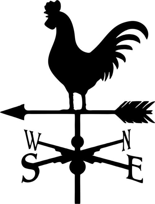 Weathervane Rooster Farm Chicken Car Truck Window Laptop Vinyl Decal Sticker Black