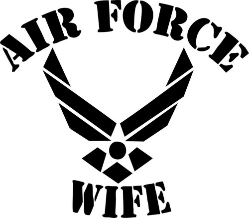 Military Air Force Wife Soldier Car Truck Window Laptop Vinyl Decal Sticker