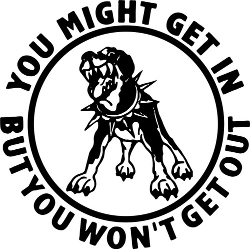 Attack Dog Rottweiler Pitbull Car Truck Window Laptop Vinyl Decal Sticker Black