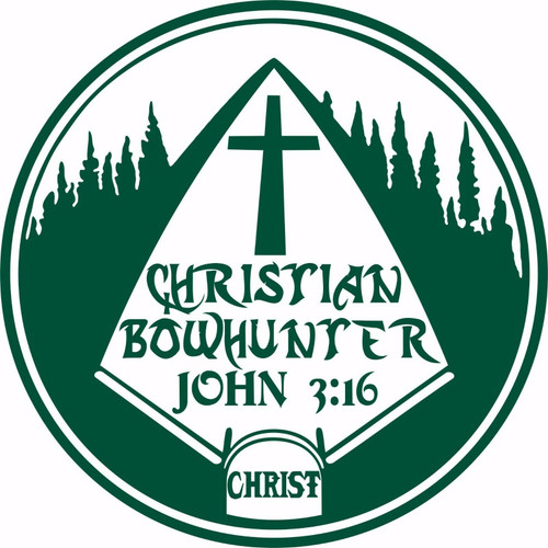 Christian Christ Cross Bow Hunting Arrow Car Truck Window Vinyl Decal Sticker Green