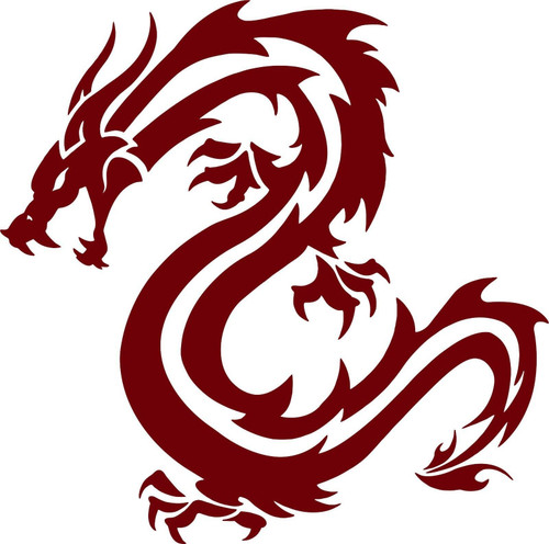 Dragon Fantasy Mystical Creature Beast Car Truck Window Vinyl Decal Sticker Red