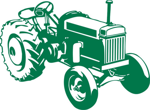 Farm Tractor Agriculture Vehicle Car Truck Window Laptop Vinyl Decal Sticker Green
