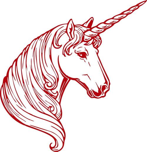 Fantasy Unicorn Magic Horse Car Truck Wall Laptop Vinyl Decal Sticker Red