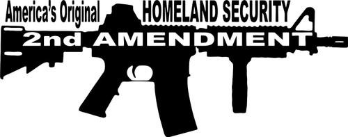2nd Amendment Rifle Machine Gun Car Truck Window Wall Laptop Vinyl Decal Sticker Black