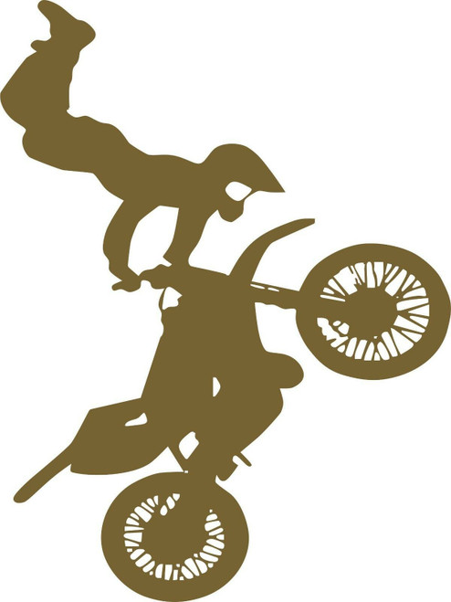 Motorcycle Stunt Dirt Bike Racing Motocross Car Truck Window Vinyl Decal Sticker