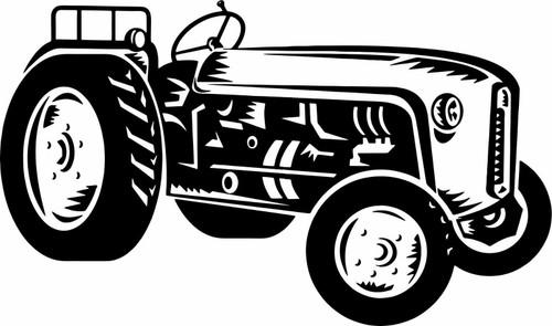 Tractor Vintage Farm Equipment Agricultural Car Truck Window Vinyl Decal Sticker Black