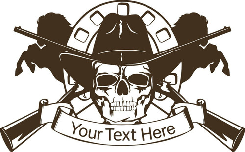 Cowboy Skull Horse Gun Custom Name Car Truck Window Laptop Vinyl Decal Sticker
