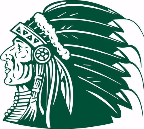 Native American Indian Warrior Headdress Car Truck Window Vinyl Decal Sticker Green