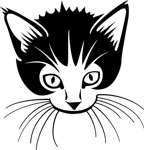Cat Kitten Pet Animal Car Truck Window Wall Laptop Vinyl Decal Sticker Black