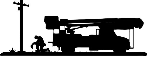 Lineman Electrician Wireman Praying Car Boom Truck Window Vinyl Decal Sticker Black