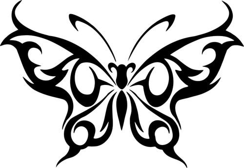 Butterfly Tribal Design Truck Car Tattoo Window Laptop Vinyl Decal Sticker Black