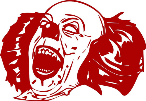 Clown Evil Jester Skull Circus Car Truck Laptop Window Vinyl Decal Sticker Red