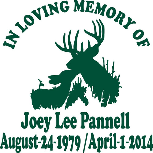 Loving Memory Baby Deer Buck Family Hunter Car Truck Window Vinyl Decal Sticker Green