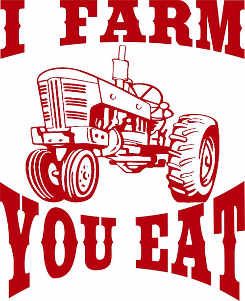 Farm Tractor Farming Agriculture Plowing Truck Window Laptop Vinyl Decal Sticker Red
