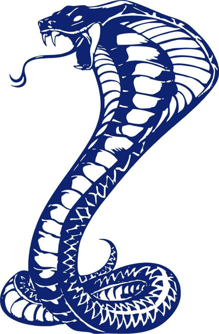 Large Snake Naja Cobra Serpent Reptile Car Truck Boat Window Vinyl Decal Sticker Blue