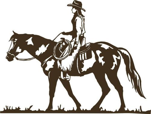 Cowboy Cowgirl Horse Rodeo Equestrian Car Truck Window Vinyl Decal Sticker