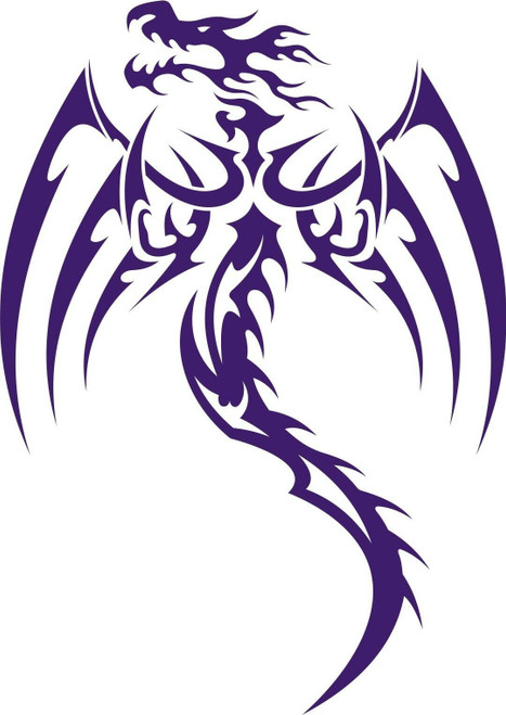 Dragon Tribal Mythical Creature Car Truck Window Laptop Vinyl Decal Sticker black