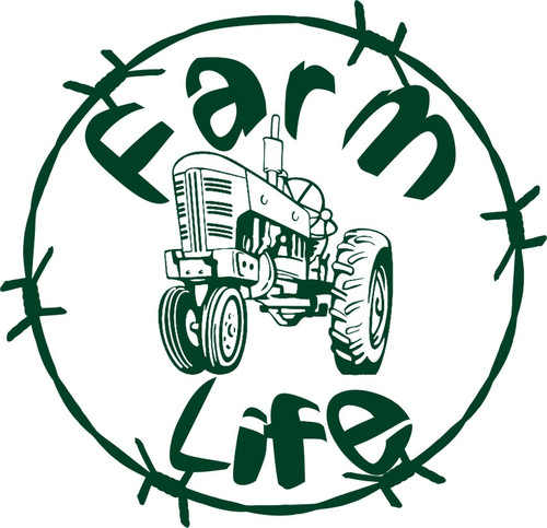 Farm Life Tractor Barb Wire Country Car Truck Trailer Window Vinyl Decal Sticker