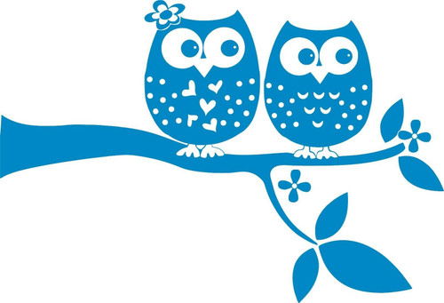 Owls On Branch Love Birds Animal Car Truck Laptop Window Vinyl Decal Sticker