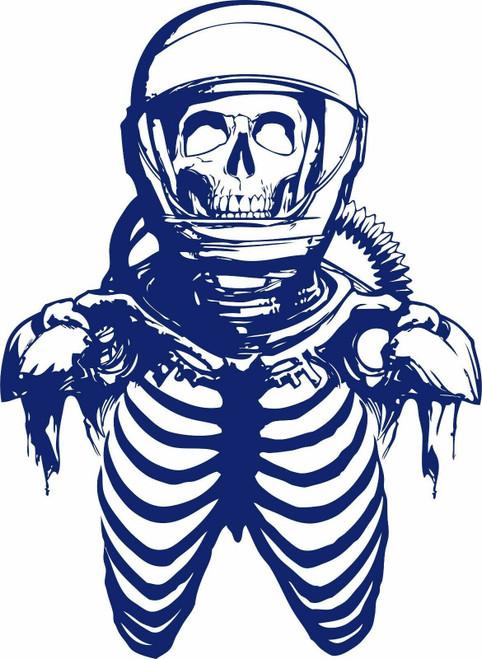 Zombie Astronaut Skeleton Skull Space Car Boat Truck Window Vinyl Decal Sticker