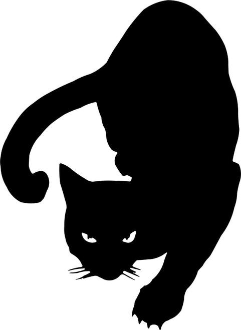 Black Cat Animal Kitty Kitten Car Truck Window Vinyl Decal Sticker Black