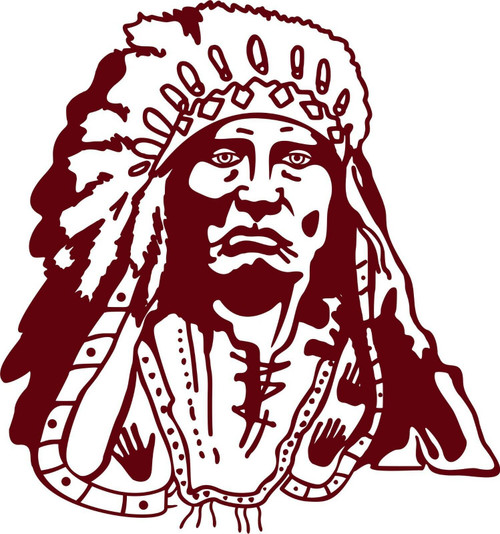 Indian Native American Chief Western Car Truck Window Vinyl Decal Sticker Red
