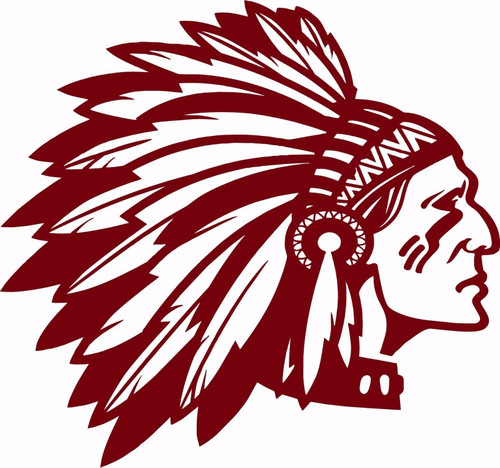 Native American Indian Face Headdress Car Truck Window Vinyl Decal Sticker Red