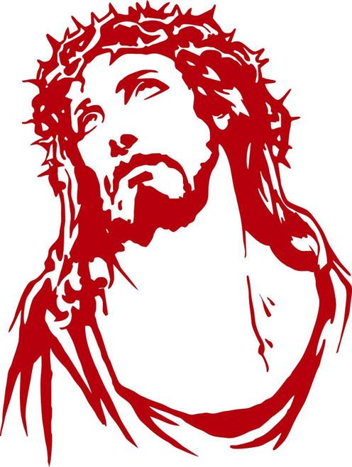 Jesus Christ Christian Lord GOD Car Boat Truck Laptop Window Vinyl Decal Sticker Red