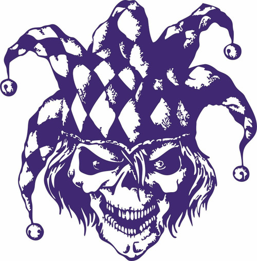 Jester Clown Circus Skull Scary Man Car Truck Laptop Window Vinyl Decal Sticker