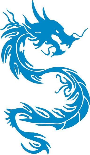 Tribal Dragon Serpent Mythical Car Truck Window Laptop Vinyl Decal Sticker Blue
