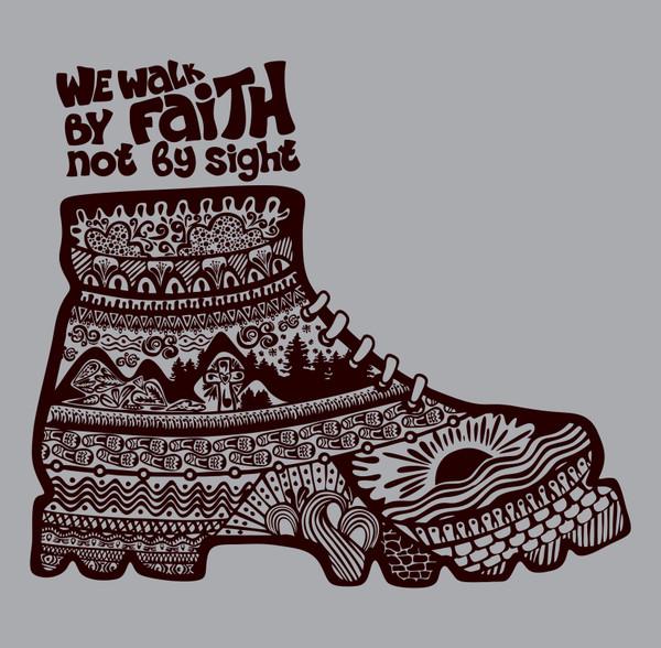 Christian Boot Cross Faith Lord GOD Car Truck Window Laptop Vinyl Decal Sticker gray