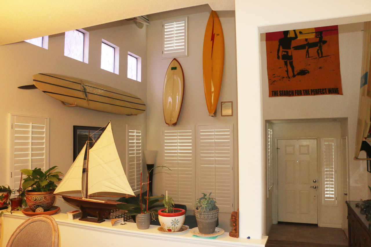 stylish surfboard wall racks