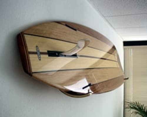minimalist surfboard wall rack