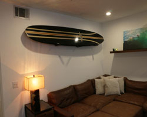 Vintage surfboard wall rack