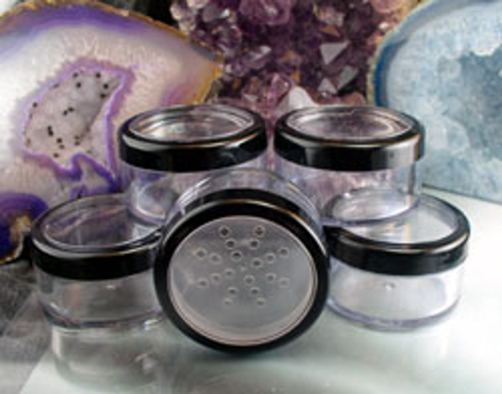 Empty 30 Gram Jars With Sifter Seals