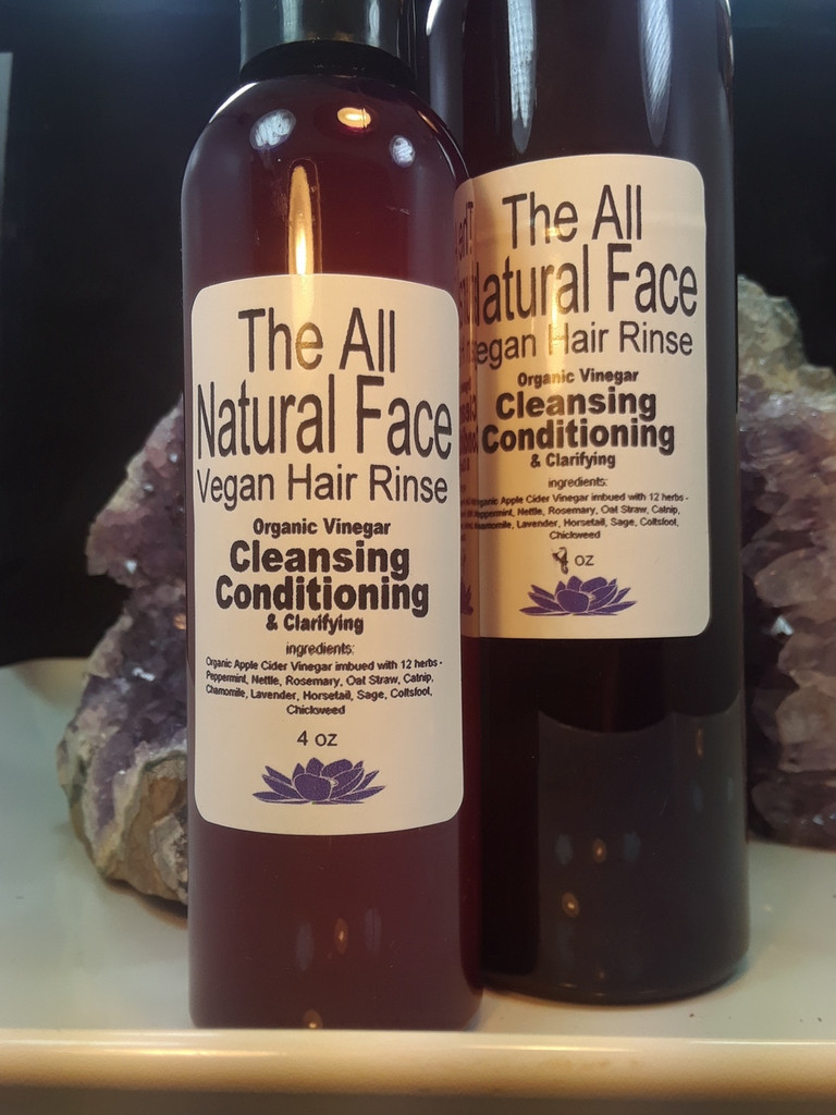 Organic Vinegar Cleansing Conditioning and Clarifying Hair Rinse