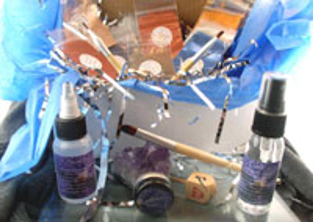 Vegan Hanukkah Gift Box Complete Eye Shadow Sampler Kit AND Wooden Dreidel