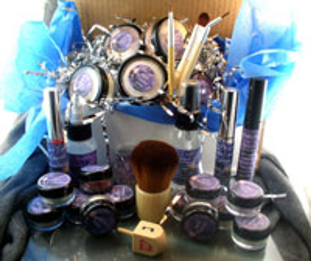 Vegan Hanukkah Gift Box Complete Kit Everything You Need to Go Green AND a Wooden Dreidel