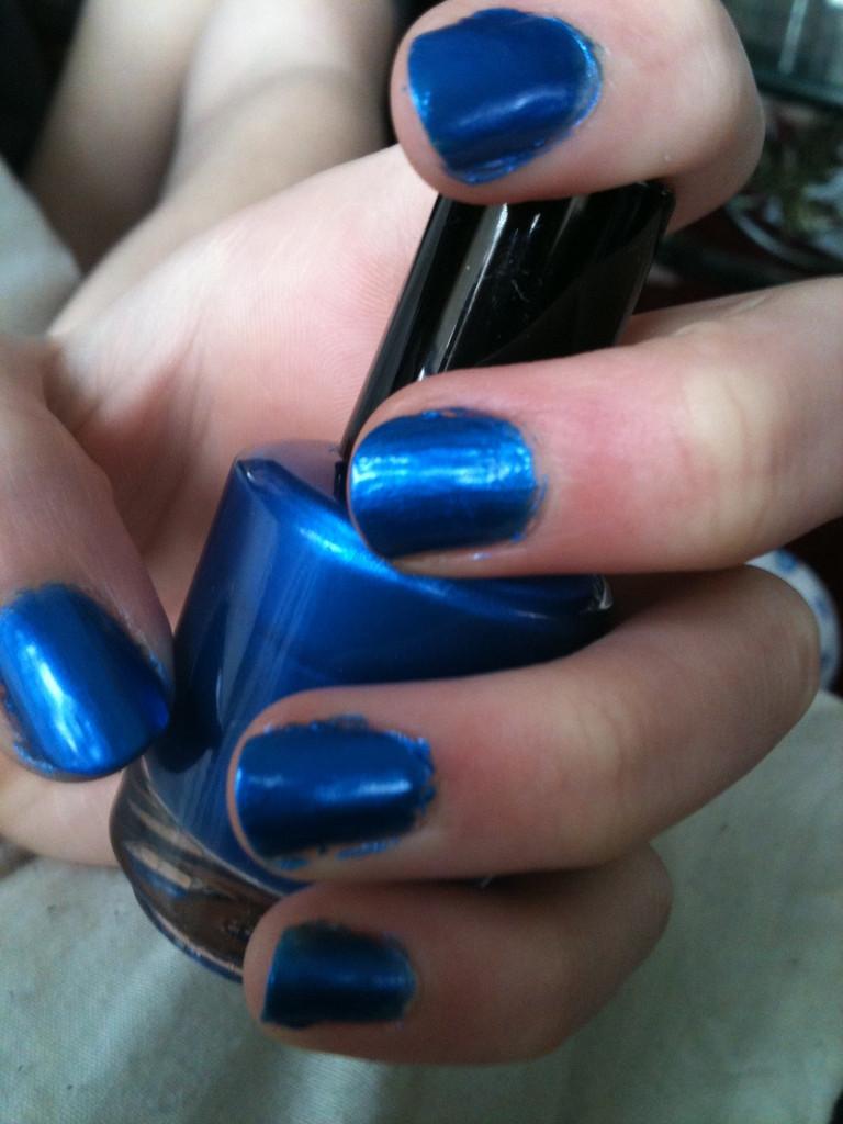 Sassy Sapphire Nail Polish