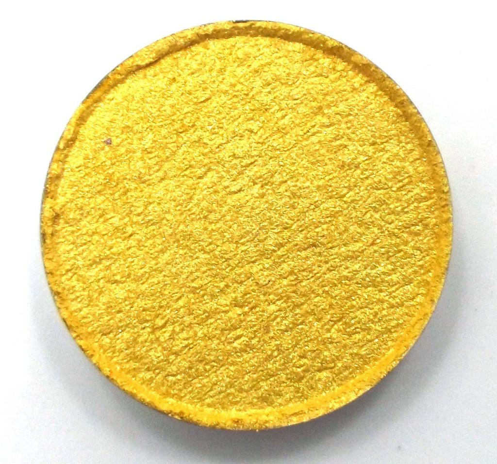 Pressed Vegan Mineral Eyeshadow - Pulsar Yellow
